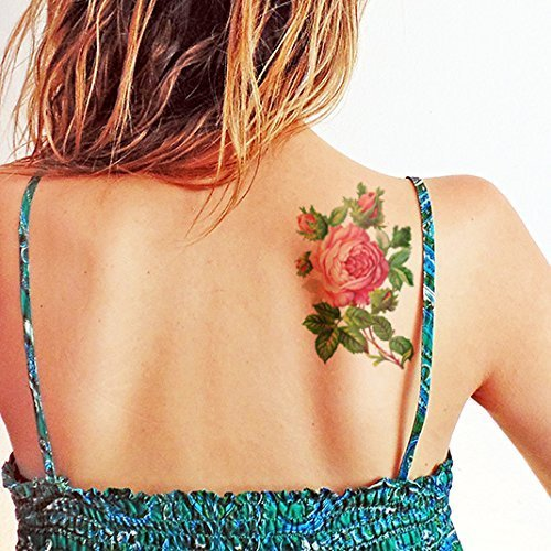 Rosa vintage grande hermosa - Tatuajes temporales
