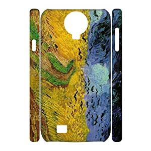 QNMLGB Hard Plastic of Oil painting Cover Phone Case For Samsung Galaxy S4 i9500 [Pattern-3]