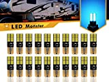 LED Monster 20-Pack Ice Blue LED Light Bulbs RV Trailer 24-SMD T10 921 194 168 2825 12V Backup Reverse Interior Side Trailer (Ice Blue)