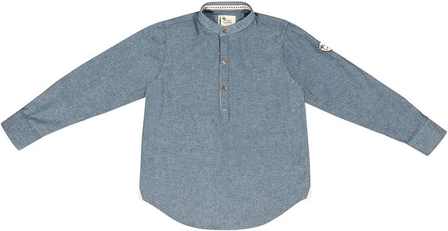 Camisa liquette – cuello mao – Liverpool azul azul gris Talla ...