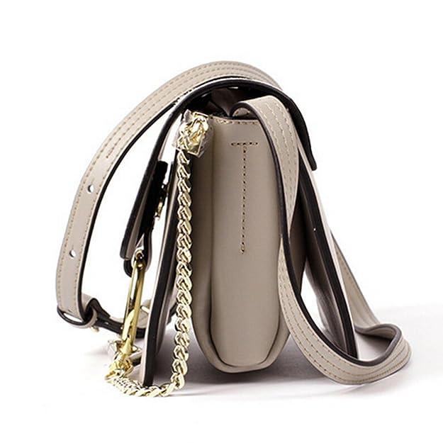 353002e10d Actlure Genuine Leather Crossbody Shoulder Bag Purse Chain link  Handbags   Amazon.com