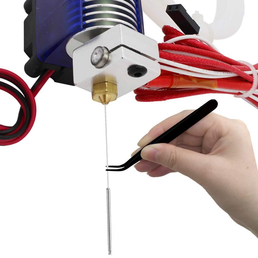 1pcs Wrenchfor 3D Printer HAWKUNG 22pcs Brass Nozzle Cleaning Kit 1pcs Tweezers 10 pcs 0.4mm V5 V6 Nozzle 10 pcs 0.35mm Cleaning Needle