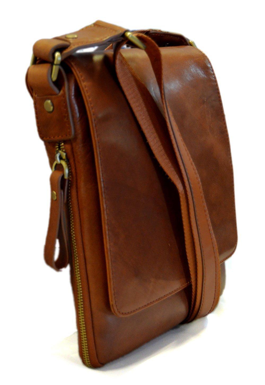 Amazon.com  Leather shoulder bag mens women sling bag messenger leather  satchel crossbody leather postman bag hobo bag brown  Handmade 11d2397535463