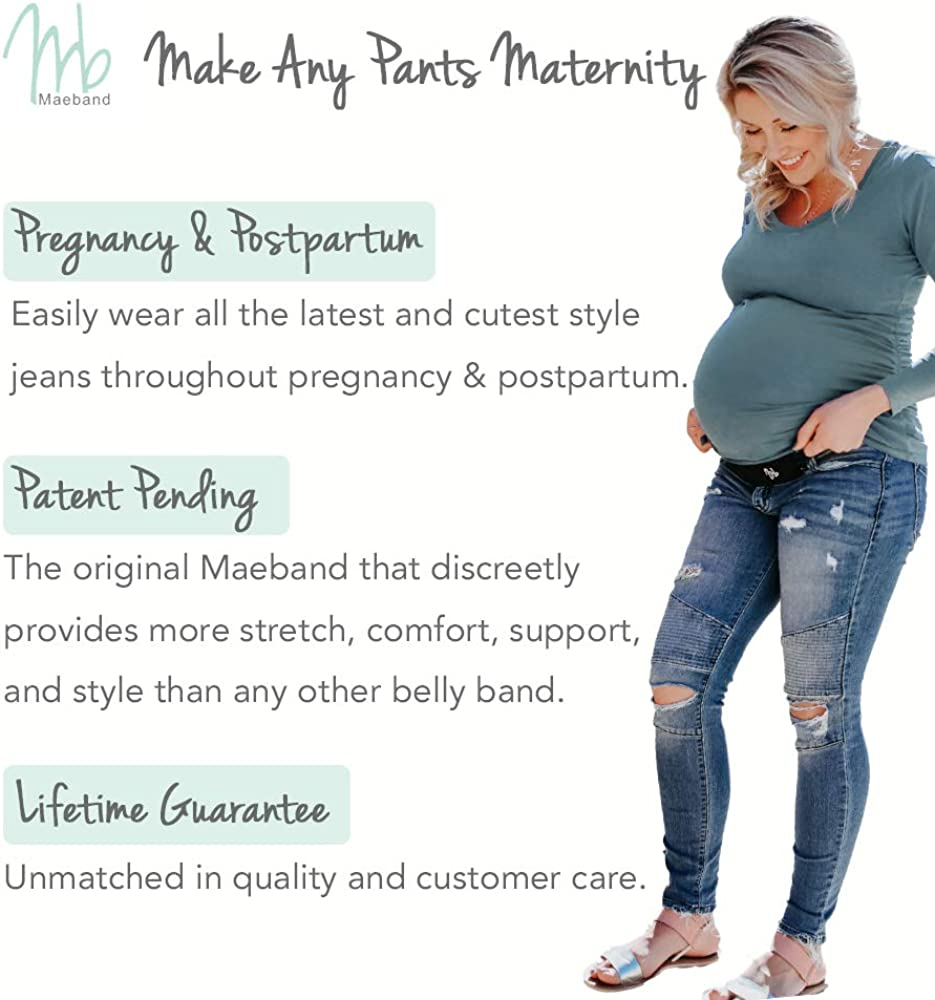 Waistband Extender Pregnancy Clothes Maeband Maternity Belly Band Pregnancy Belt Maternity Jeans