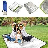 FidgetFidget Aluminum Foil Outdoor Beach Grass Blanket Camping Mat Pad Cushion