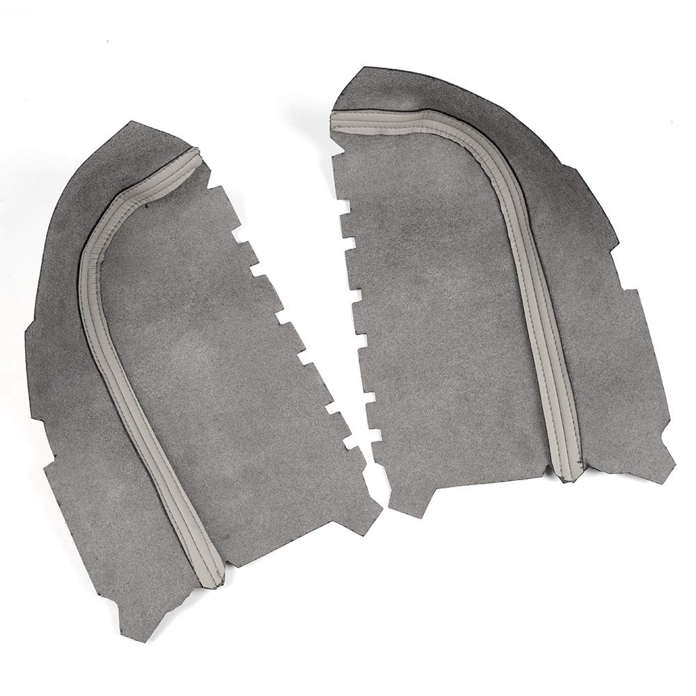 Speedmotor Left Right Side Gray Leather Front Door Panels Center Comsoles Armrest Covers Replacement Fit for 2009-2013 Honda Pilot Leather Part Only