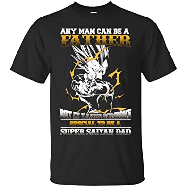 60b1c10f9 Image Unavailable. Image not available for. Color: Funny Dragonball Tshirt-Anyman  Can Be A Father Dragon Ball Super Saiyan ...