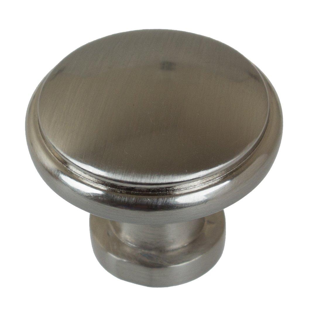 GlideRite Hardware 5096-SN-10 Round Ring Cabinet Knob, 10 Pack, 1.125'', Satin Nickel