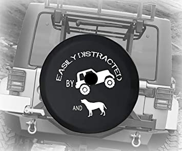 Boomerang 32 Soft JL Tire Cover for use with 2018-2019 Jeep Wrangler JL Sahara - - Paw Prints 255//70R18 with Back-up Camera