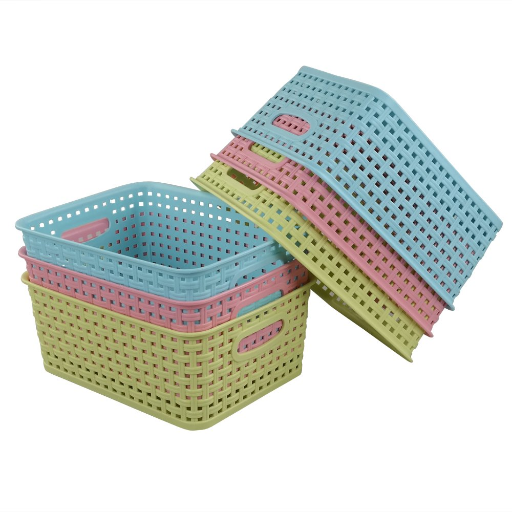 Nicesh Plastic Storage Baskets, Set of 6 Niceshoe