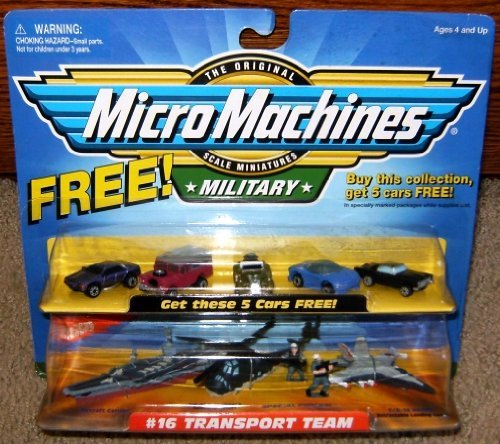 Micro Machines Transport Team #16 with 5 Bonus Cars