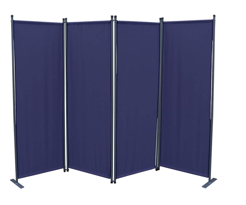 GRASEKAMP Qualit/ät seit 1972 Ersatz Bezug Paravent 4tlg Blau Raumteiler Trennwand Sichtschutz