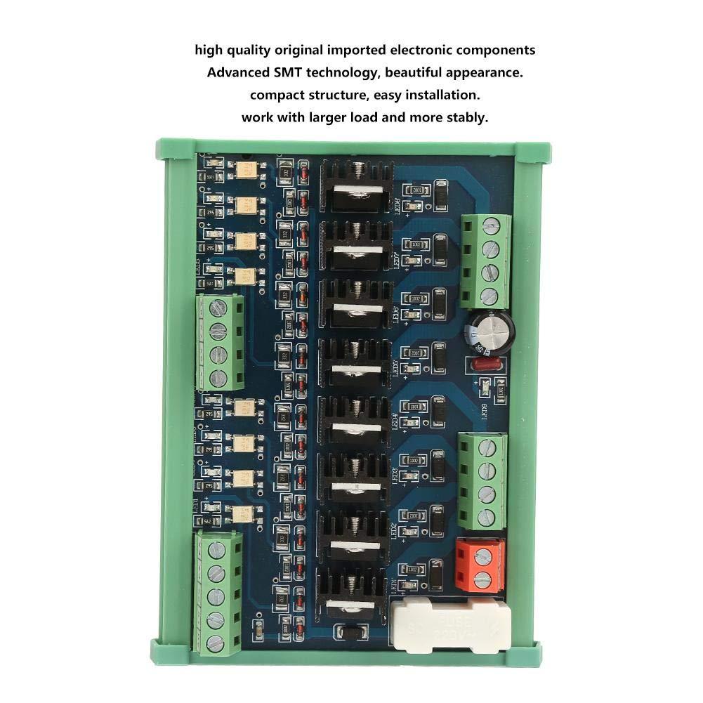 Tarjeta de alimentaci/ón de Salida de Transistor de Amplificador de CC de 8 Canales PLC Color de Placa de Circuito Rojo y Azul al Azar