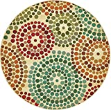 Unique Loom Eden Outdoor Collection Beige 8 ft Round Area Rug (8' x 8')