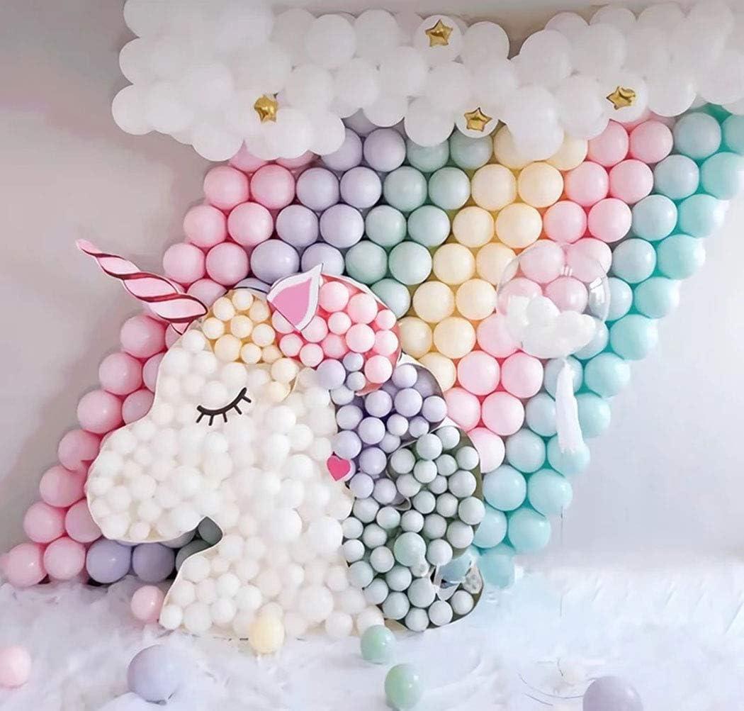 QA/_ 100 Pcs 5inch Macaroon Color Round Latex Balloons Party Birthday Decor Spl