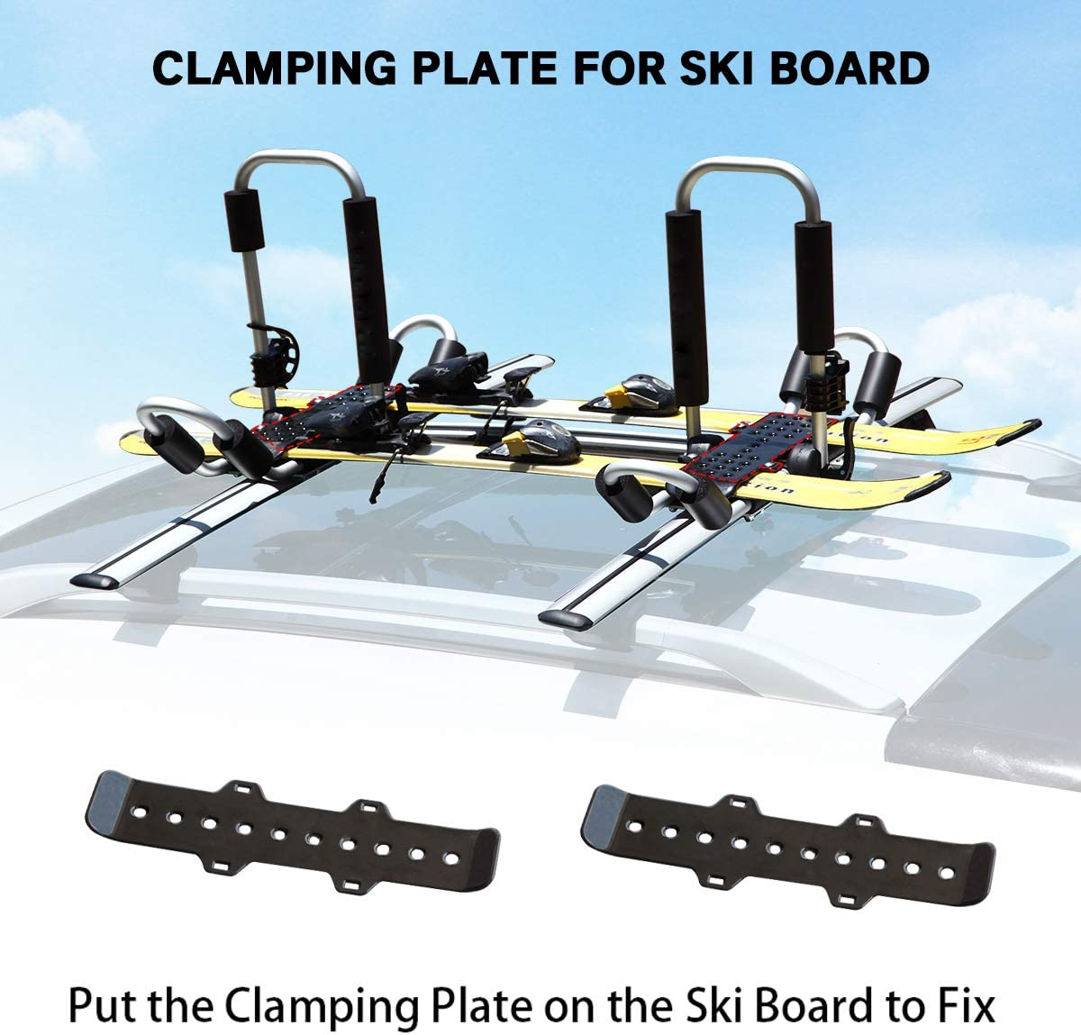 Paddle Board Van Truck Crossbar with 2 Ratchet Lashing Tie-Down Straps SUV Surf Ski Roof Top Mount on Car GUDE 2 Pieces J-Bar Kayak Roof Rack Universal Double Folding Kayak Carrier for Canoe Boat