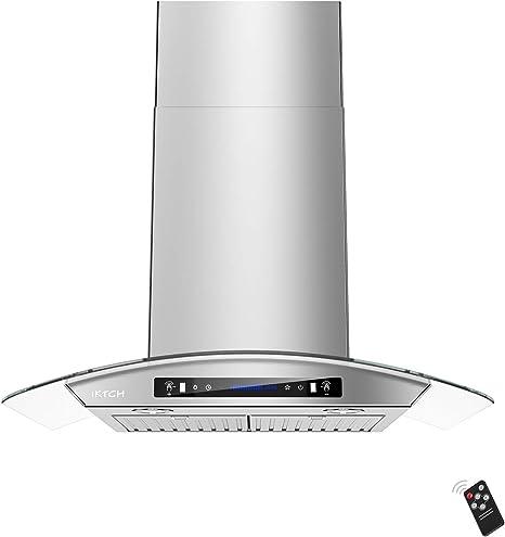 IKTCH - Campana para debajo del armario (900 CFM, sensor de gestos de 4 velocidades y panel
