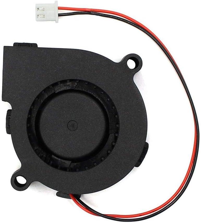 Blade Color: 24V Rarido 1 Pc DC 12V 24V 5015 Cooling Fan Hotend Extruder for RepRap 3D Printer Parts 50mm Blower Radial Cooling Fan