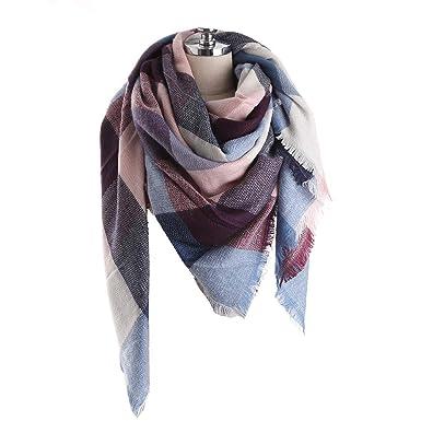 596cb9b585d2 Aostar XXL Écharpe Femme, écharpe châle foulard étole pashmina en Cachemire Chaud  Automne Hiver Grand
