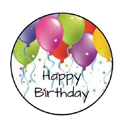 Amazon.com: 48 globos de feliz cumpleaños #4!!! Pegatinas de ...
