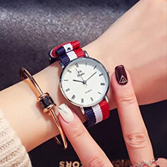 Relojes, Relojes De Mujer, Relojes Casuales De Lona para ...