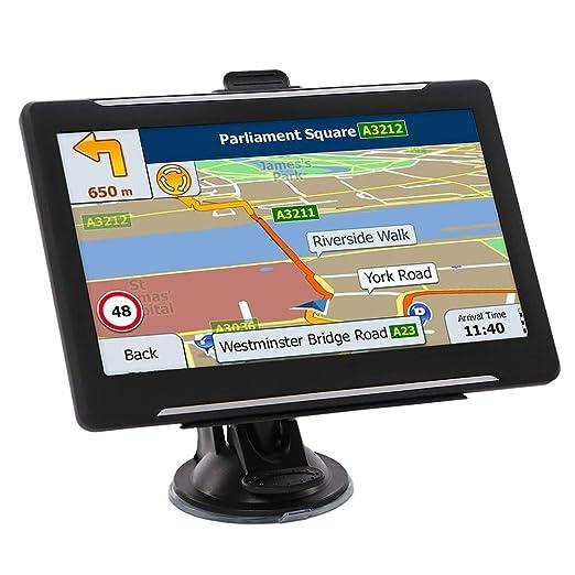 LHNA Bluetooth Navegador GPS Navegación con Pantalla táctil ...