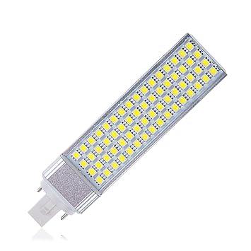 YCDC 8X G24 13W Enchufe Horizontal Lámpara LED Maíz luz Blanca Fría Barra Bombilla 85-265 V: Amazon.es: Hogar