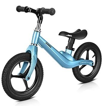 1-1 Bicicleta Infantil, Todo El Marco De Aleación De Magnesio Scooter De Dos Ruedas para Niños No Pedal Bicicleta De 12 Pulgadas,Blue: Amazon.es: Deportes y ...