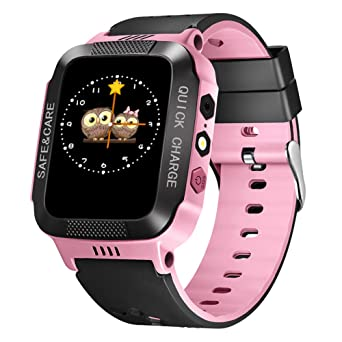 HUANSI Teléfono de los niños Smartwatch Cámara Reloj Linterna SOS ...