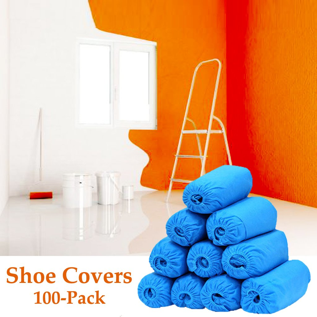 Shoe Covers, Disposable Boot Covers for Home Construction Indoor Outdoor, Blue