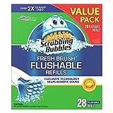 Scrubbing Bubbles Fresh Brush Flushable Refills 28-Pack (Case of 6)