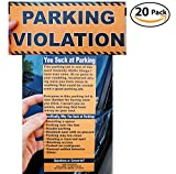 Full-Size Fake Parking Ticket by Witty Yeti 20 Pack. Both Realistic & Hilarious. Punish the Idiots Who Park Like Aholes. Hilarious Prank, Gag Gift & Stocking Stuffer. It's Time for Justice!