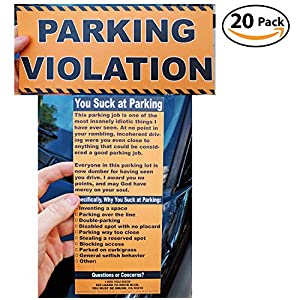 fake parking ticket prank