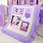 Wowelife-Purple-Elephant-Nursery-Set-100-Cotton-Upgraded-Flower-Birds-Elephant-Crib-Bedding-Sets-8-Piece-for-Baby-Girls-and-Boys-with-Bumpers-and-BlanketPurple-8-Piece