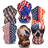 Headwear - 6PCS Scarf Bandanna Headband Yoga Sports Headband,Head Wrap,Balaclava Multifunctional Stretchable Sport Face Mask (6USFlag)