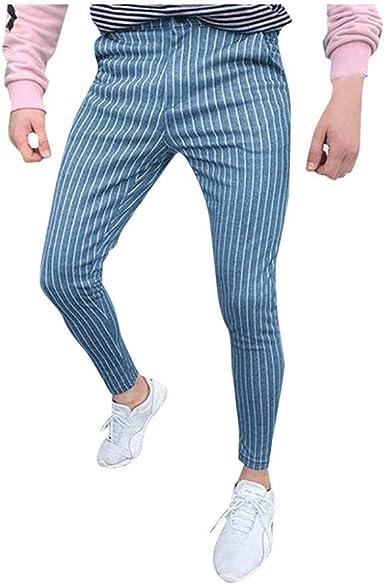 Zezkt Pantalones De Vestir De Traje Formal De Negocios Ajustados Ocasionales Ajustados Para Hombre Pantalones Largos De Bolsillo Comodo Casual Pantalon Largo Amazon Es Ropa Y Accesorios