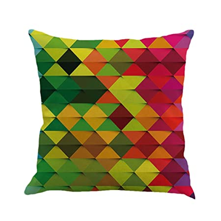 Vibola abstract Geometry Painting Linen Vintage Home Decor Pillow ...