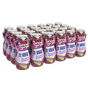 good2grow Fortified Water Raspberry Lemonade Refill Bottles - 10oz, 24 Count - Good Source of Vitamin D and Calcium, No Sugar Added