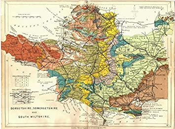 DORSET SOMERSET AND SOUTH WILTSHIRE Geological map STANFORD