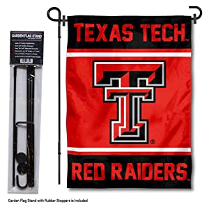 College Flags and Banners Co. Texas Tech Red Raiders Garden Flag with Stand Holder