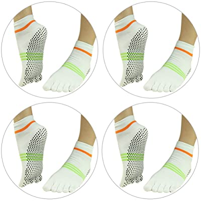 add4a30ba J'colour Yoga Socks Non Slip, Pilates Barre Gripes Ankle Sports Athletic  Socks for Women&Men