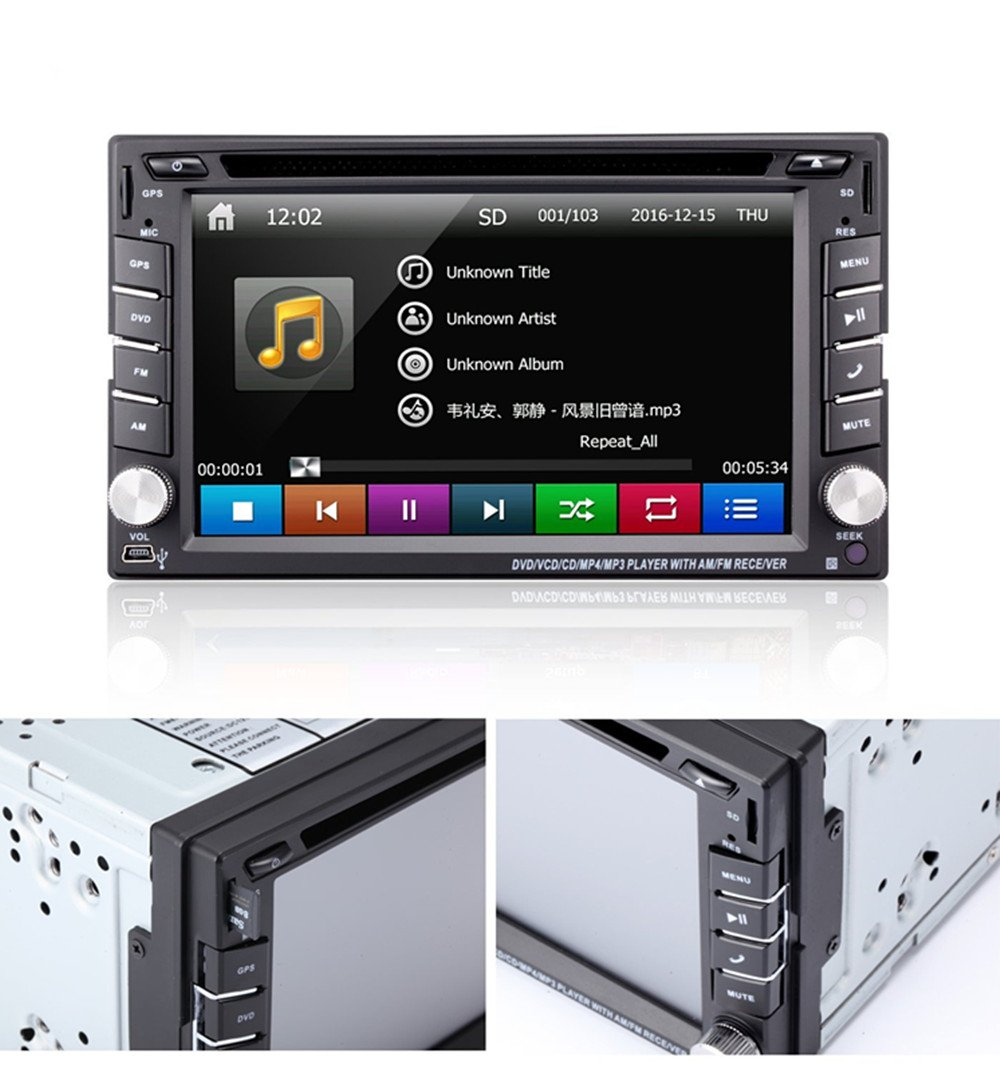 Amazon.com: TOCADO 6.2'' Car Stereo Radio Double 2 DIN Navigation  TouchScreen Car DVD Player In-dash Car Audio AM/FM Radio Bluetooth USB SD  Ipod with Backup ...