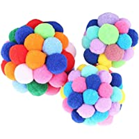 #N/A Funny Cat Ball Toys Pet Fetch Play Chew Chaser S/M/L for Cat - Multicolor, S