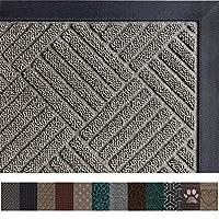 Gorilla Grip Original Durable Rubber Door Mat, 29 x 17, Heavy Duty Doormat, Indoor Outdoor, Waterproof, Easy Clean, Low-Profile Mats for Entry, Garage, Patio, High Traffic Areas, Gray Diamond