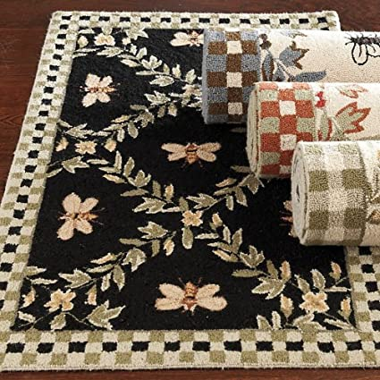 Honey Bee Rug   Black 2u00276u0026quot; X 10u0027 Runner   Ballard Designs