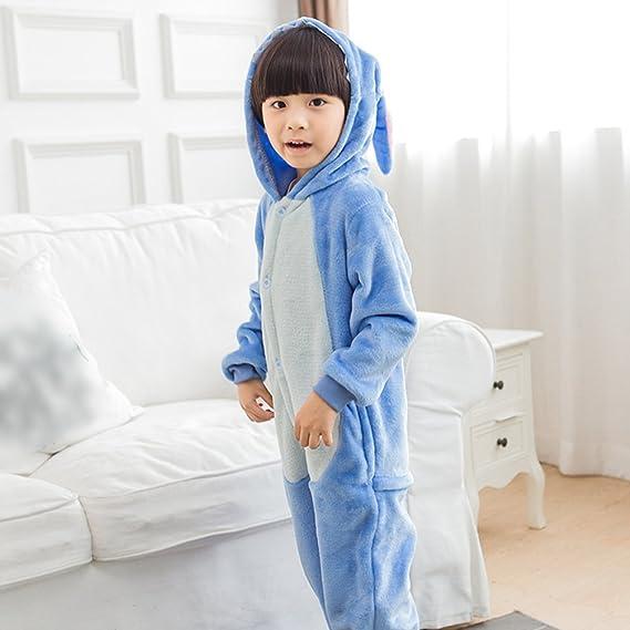MissFox Kigurumi Pijamas Unisexo Niños Traje Disfraz Niños Animal Pyjamas Stitch 85: Amazon.es: Ropa y accesorios