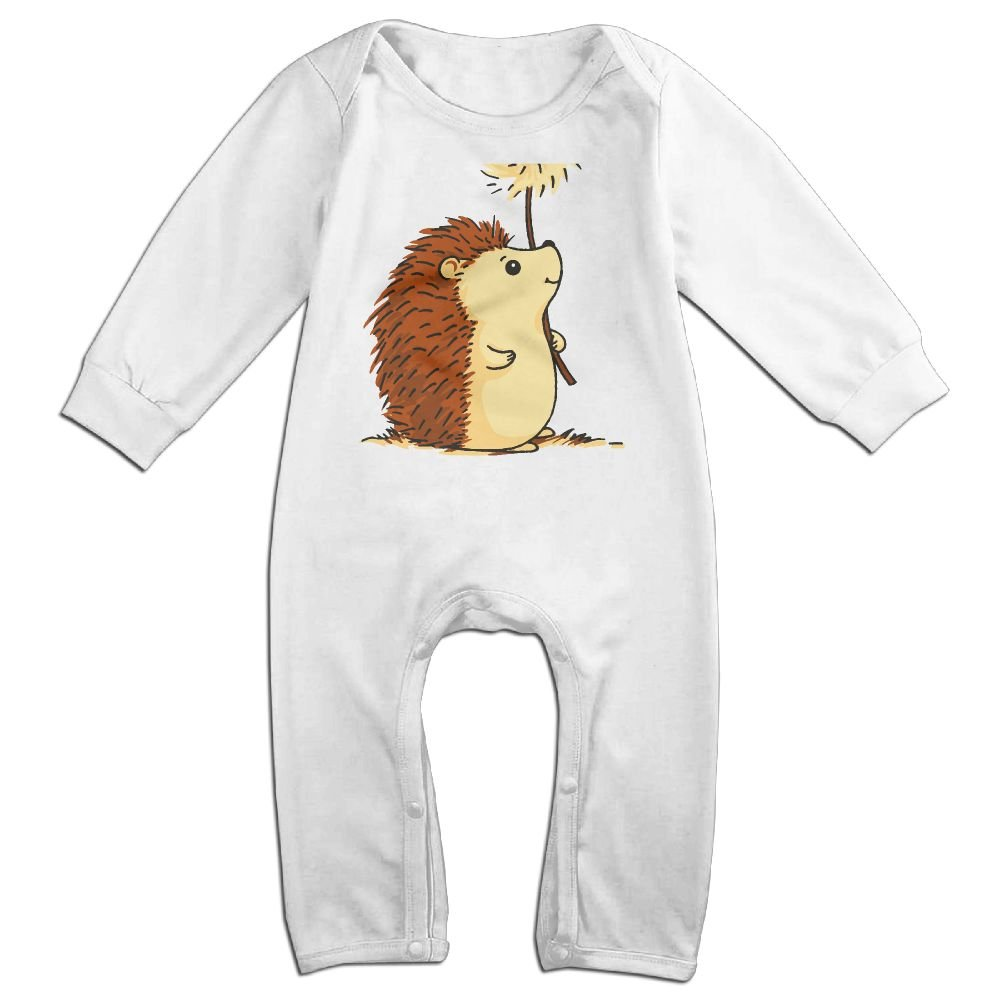 Mri-le1 Baby Girls Coverall Hedgehog Cartoon Baby Rompers