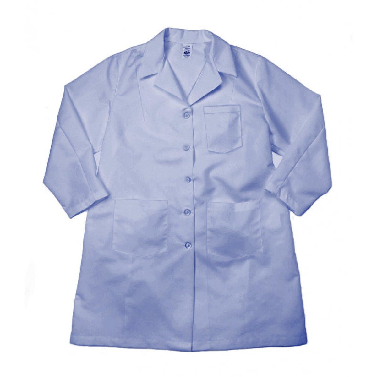 BUTTONS-X-Large-Light Blue Pinnacle Textiles L17F-XL-LB Pinnacle Textile L17F 5.25 OZ POPLIN 65//35 Polyester//Cotton FEMALE LAB COAT