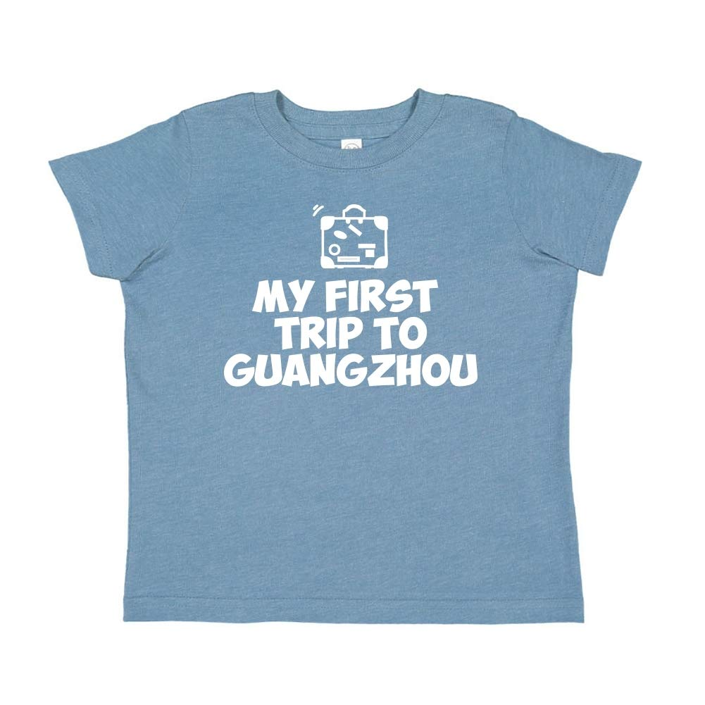 Toddler//Kids Short Sleeve T-Shirt Mashed Clothing My First Trip to Guangzhou