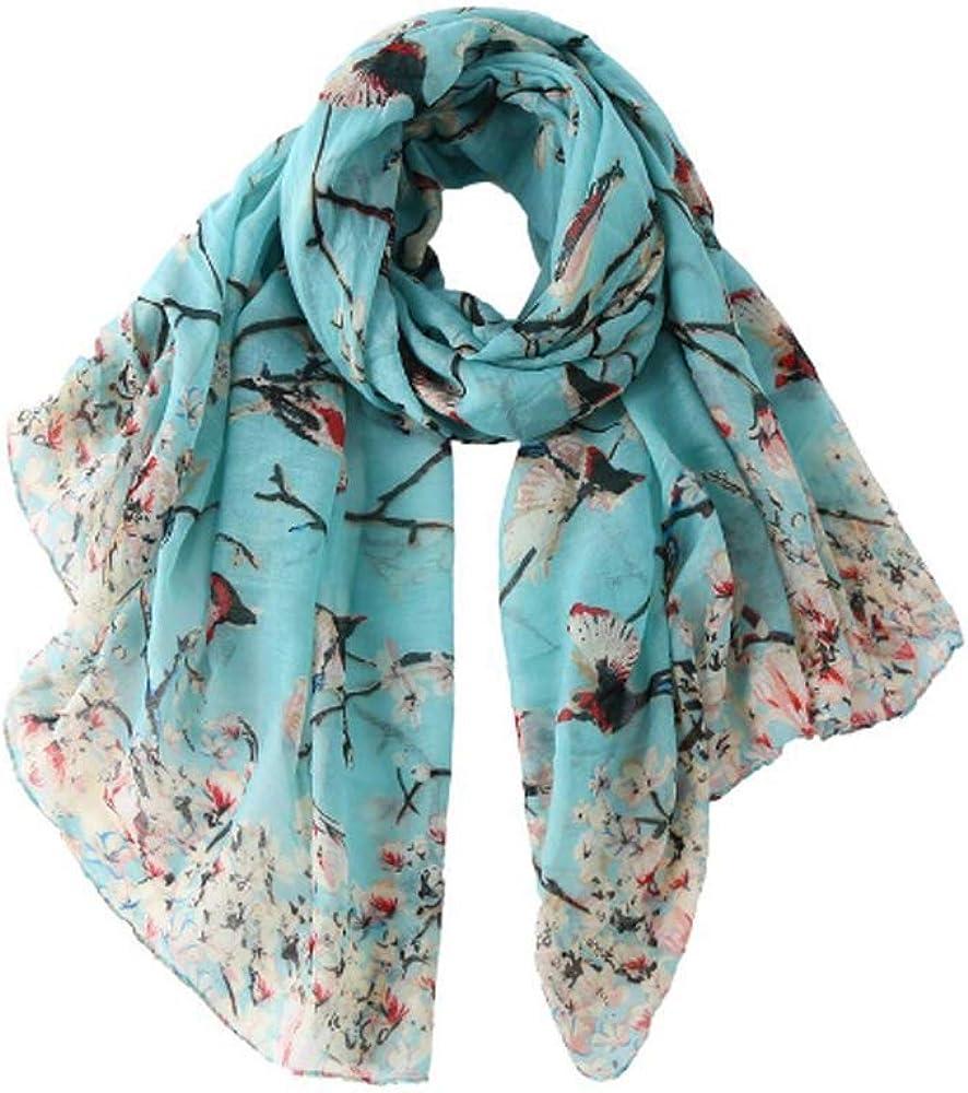 Ladies Womens Fashion Elegent Print Long Soft Voile Scarf Shawl Wrap